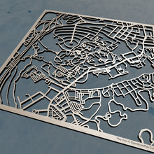 Load image into Gallery viewer, Brandeis University 3D Wooden Laser Cut Campus Map | Unique Gift