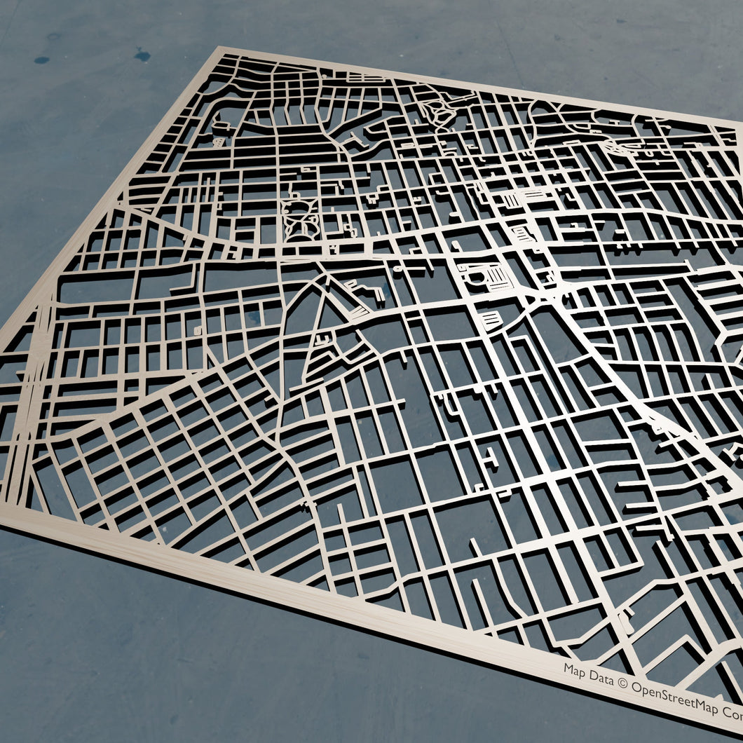 York College CUNY 3D Wooden Laser Cut Campus Map | Unique Gift - Silvan Art