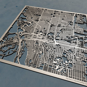 Spokane, Washington - 3D Wooden Laser Cut Map | Unique Gift