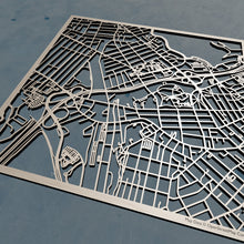 Load image into Gallery viewer, USM University of Southern Maine 3D Wooden Laser Cut Campus Map | Unique Gift - Silvan Art