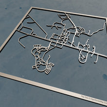 Load image into Gallery viewer, Hamilton College 3D Wooden Laser Cut Campus Map