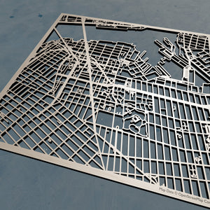 Long Island University LIU 3D Wooden Laser Cut Map - Silvan Art