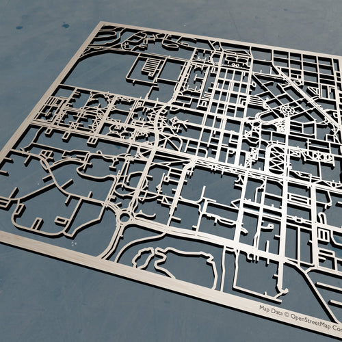 Purdue University - 3D Wooden Laser Cut Campus Map | Unique Gift