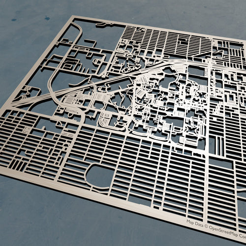 Texas Tech University TTU - 3D Wooden Laser Cut Campus Map | Unique Gift