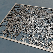 Load image into Gallery viewer, Wolverhampton England - 3D Wooden Laser Cut Map | Unique Gift