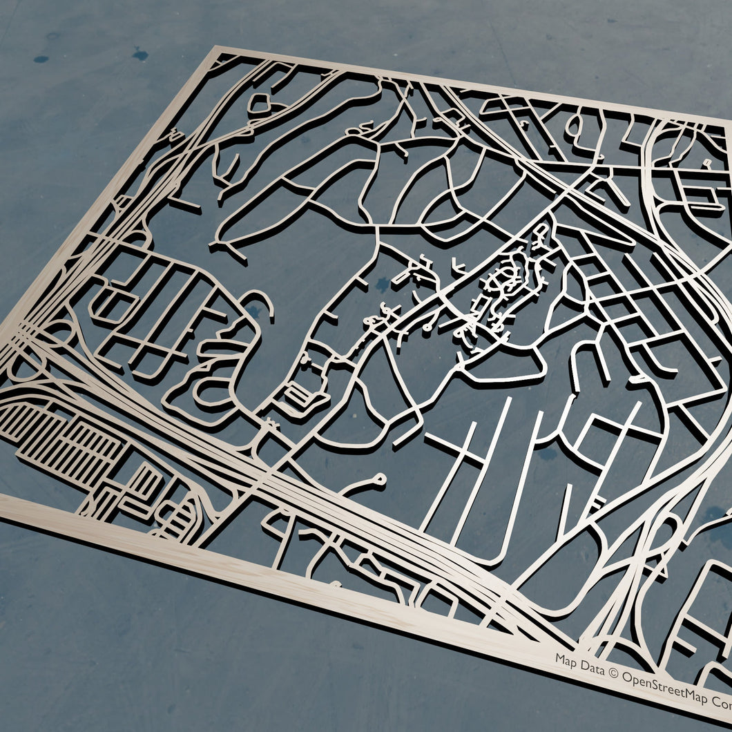 Sarah Lawrence College 3D Wooden Laser Cut Map | Unique Gift - Silvan Art