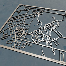 Load image into Gallery viewer, Slippy Rock University of Pennsylvania SRU 3D Wooden Laser Cut Map | Unique Gift - Silvan Art