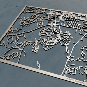 UMass Dartmouth 3D Wooden Laser Cut Campus Map | Unique Gift