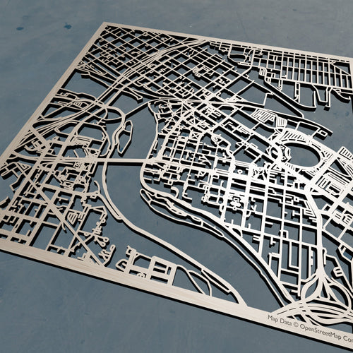 University of Minnesota, Twin Cities UMN - 3D Wooden Laser Cut Campus Map | Unique Gift