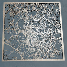 Load image into Gallery viewer, Saint-Etienne France - 3D Wooden Laser Cut Map | Unique Gift