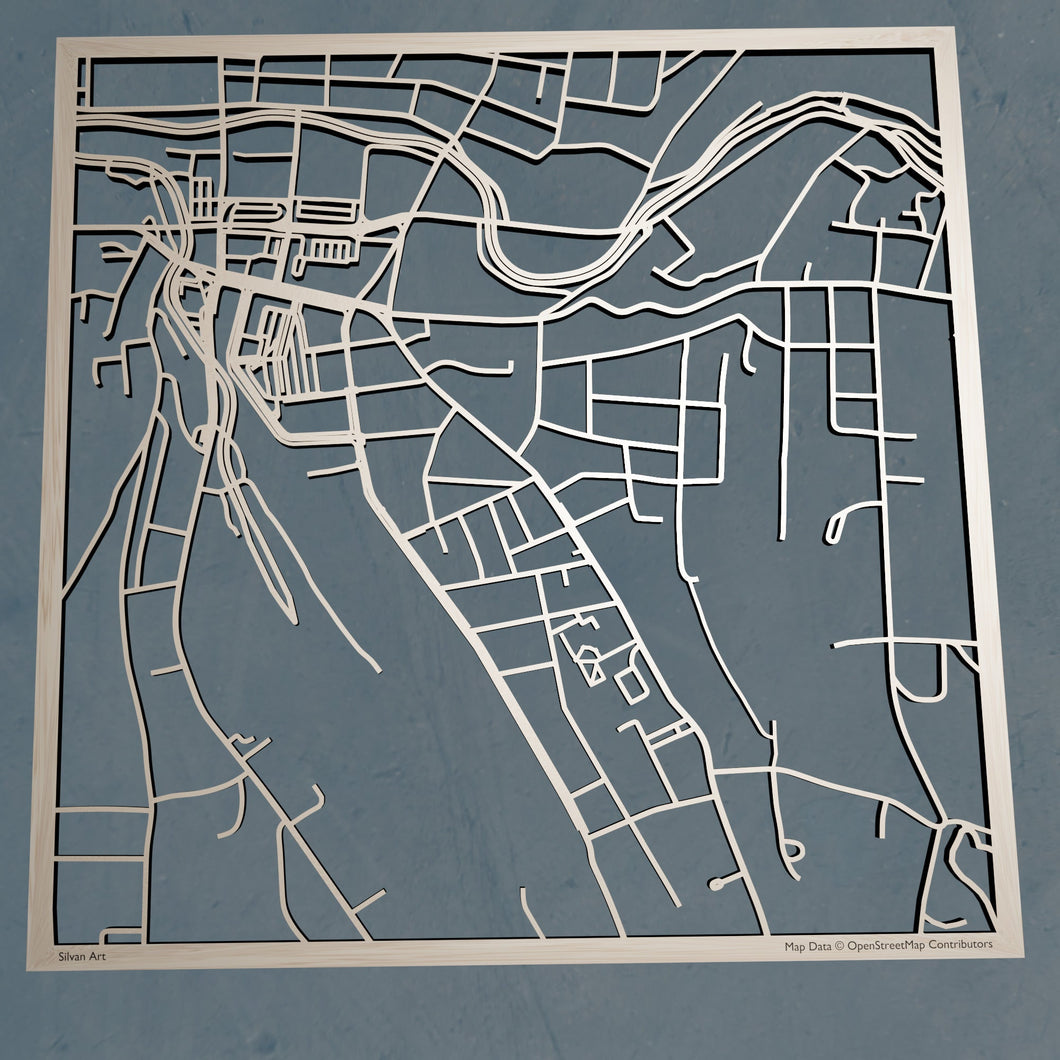 MCLA Massachusetts College of Liberal Arts 3D Wooden Laser Cut Campus Map