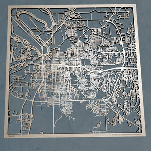 Montgomery Alabama - 3D Wooden Laser Cut Map | Unique Gift