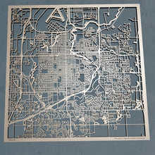 Load image into Gallery viewer, Sioux Falls South Dakota - 3D Wooden Laser Cut Map | Unique Gift