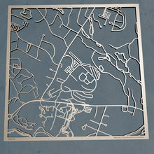 Load image into Gallery viewer, Bentley University 3D Wooden Laser Cut Campus Map | Unique Gift - Silvan Art