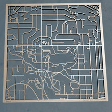 Load image into Gallery viewer, Oregon Health and Science University 3D Wooden Laser Cut Campus Map | Unique Gift