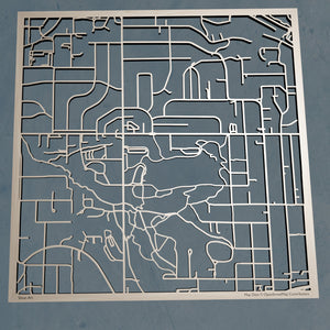 Oregon Health and Science University 3D Wooden Laser Cut Campus Map | Unique Gift