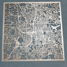 Load image into Gallery viewer, Orlando, Florida - 3D Wooden Laser Cut Map | Unique Gift