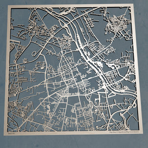Warsaw Poland - 3D Wooden Laser Cut Map | Unique Gift