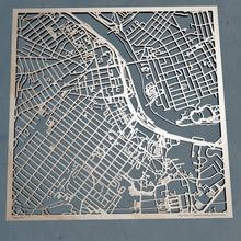 Load image into Gallery viewer, Rutgers University - 3D Wooden Laser Cut Campus Map | Unique Gift