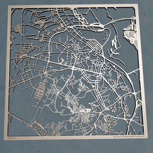 Kiev Ukraine (Kyiv) - 3D Wooden Laser Cut Map