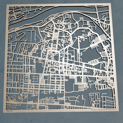University of Alabama UA - 3D Wooden Laser Cut Campus Map | Unique Gift
