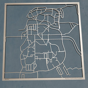 Hampshire College 3D Wooden Laser Cut Campus Map | Unique Gift - Silvan Art