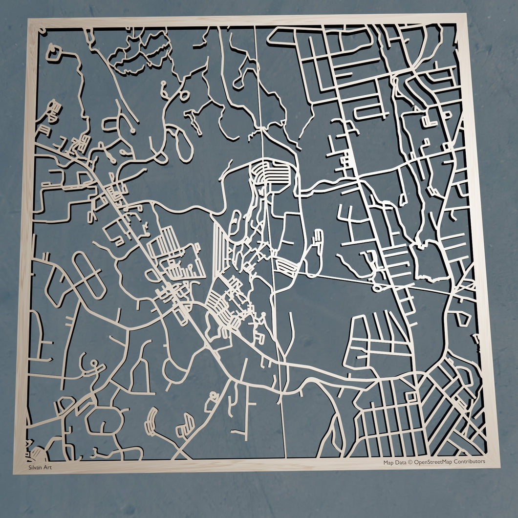 William Paterson University 3D Wooden Laser Cut Campus Map | Unique Gift - Silvan Art