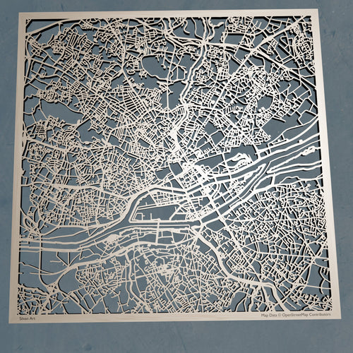 Nantes France - 3D Wooden Laser Cut Map | Unique Gift