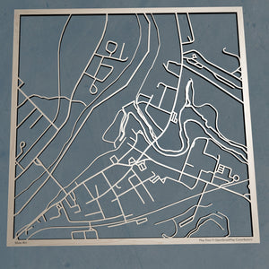 UMFK University of Maine at Fort Kent 3D Wooden Laser Cut Campus Map - Silvan Art