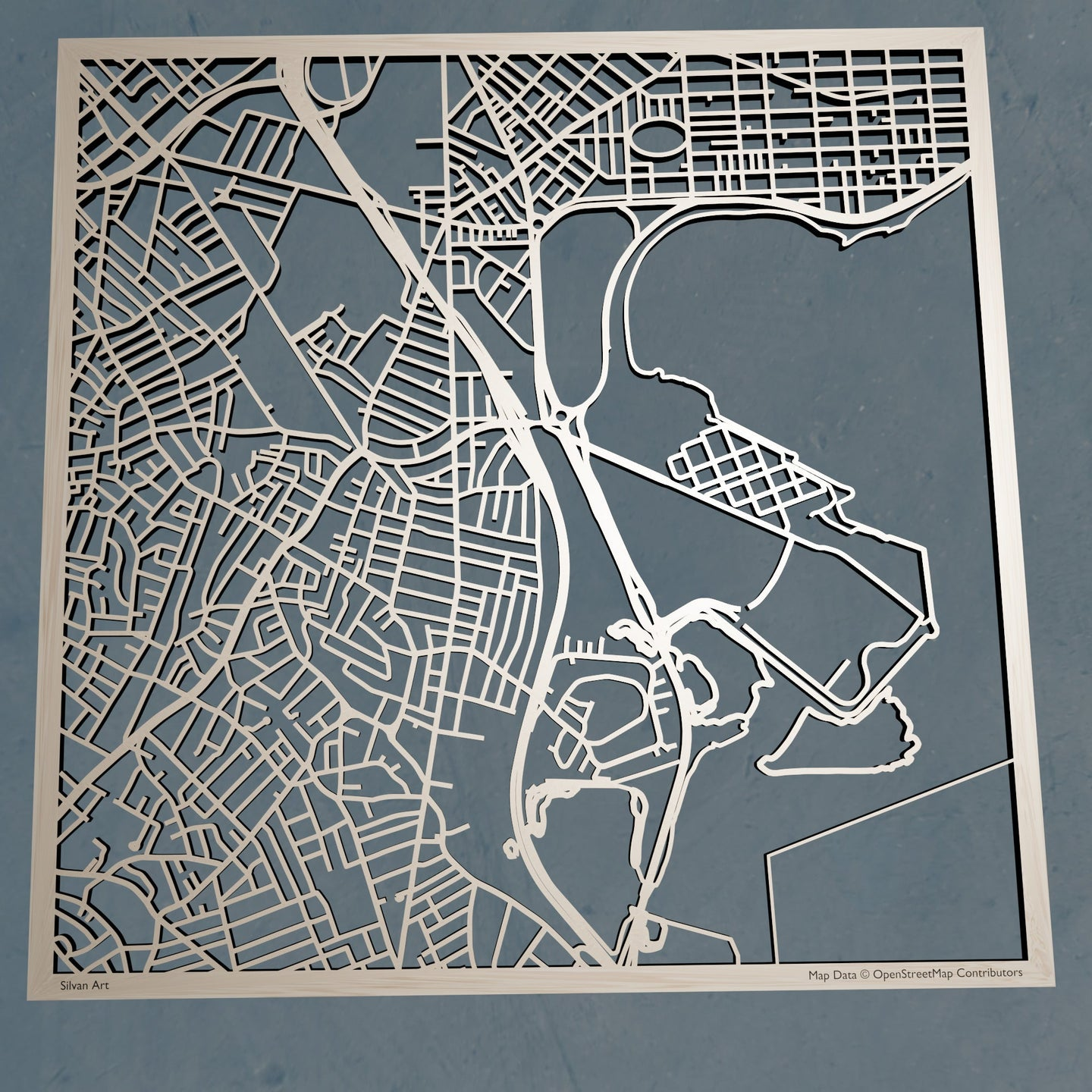 UMass Boston 3D Wooden Laser Cut Campus Map | Unique Gift