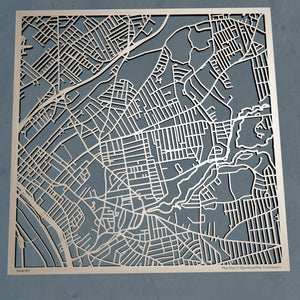 AIC American International College 3D Wooden Laser Cut Campus Map | Unique Gift - Silvan Art