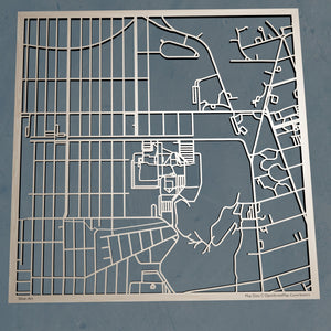 Adelphi University 3D Wooden Laser Cut Map - Silvan Art