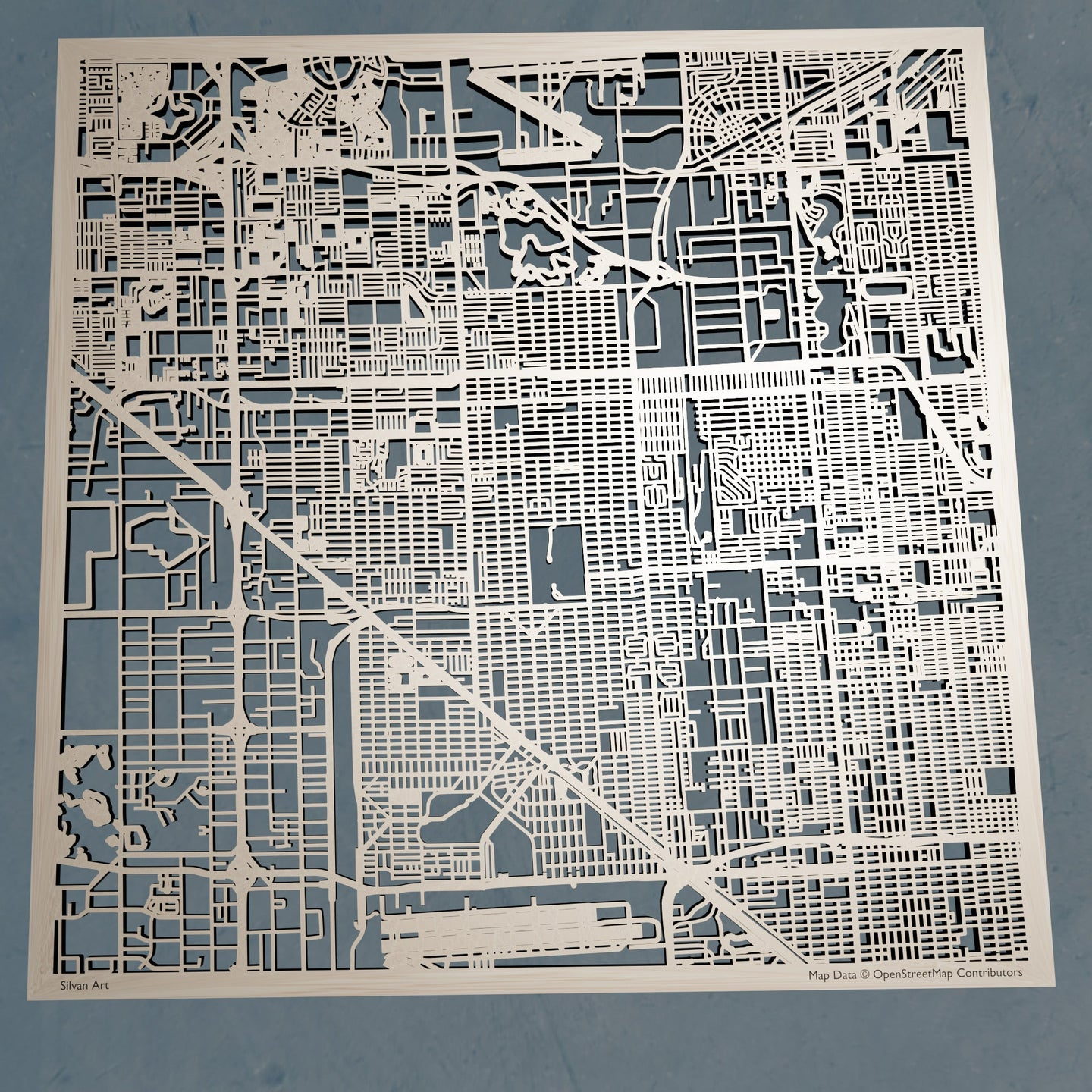 Hialeah, Florida - 3D Wooden Laser Cut Map | Unique Gift