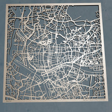 Load image into Gallery viewer, Guangzhou, China - 3D Wooden Laser Cut Map | Unique Gift