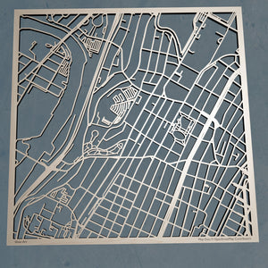 Monroe College 3D Wooden Laser Cut Map - Silvan Art