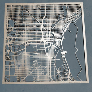 Milwaukee, Wisconsin - 3D Wooden Laser Cut Map | Unique Gift