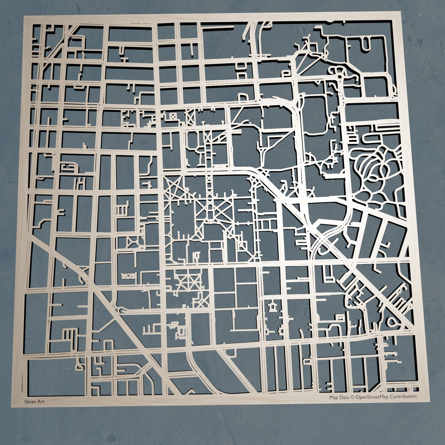 University of Michigan, Ann Arbor 3D Wooden Laser Cut Campus Map | Unique Gift