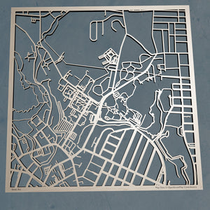 Southern Connecticut State University 3D Wooden Laser Cut Campus Map | Unique Gift - Silvan Art