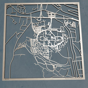 Binghamton University (SUNY Binghamton)  3D Wooden Laser Cut Campus Map | Unique Gift