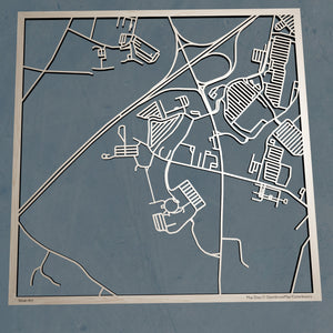 UMA University of Maine at Augusta 3D Wooden Laser Cut Campus Map | Unique Gift - Silvan Art