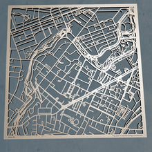 Load image into Gallery viewer, MCPHS University 3D Wooden Laser Cut Campus Map - Silvan Art