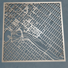 Load image into Gallery viewer, University of Scranton 3D Wooden Laser Cut Map | Unique Gift - Silvan Art