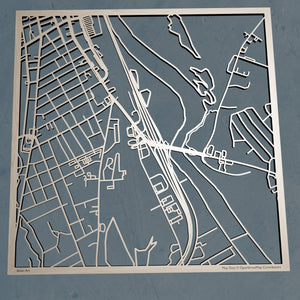 Granite State College 3D Wooden Laser Cut Campus Map | Unique Gift - Silvan Art