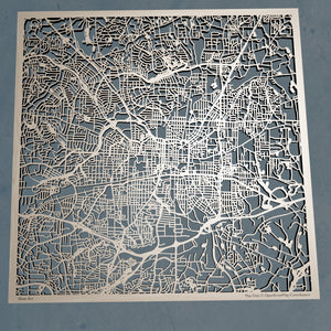 Greensboro, North Carolina - 3D Wooden Laser Cut Map | Unique Gift