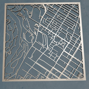 McGill University 3D Wooden Laser Cut Campus Map