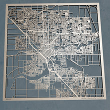Load image into Gallery viewer, Modesto, California - 3D Wooden Laser Cut Map | Unique Gift