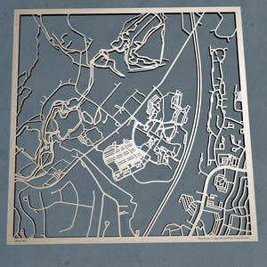 Ramapo College 3D Wooden Laser Cut Campus Map | Unique Gift - Silvan Art