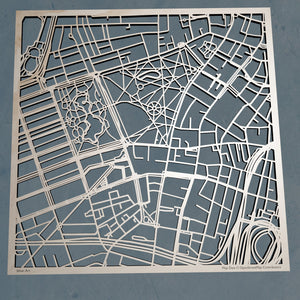 Emerson College 3D Wooden Laser Cut Campus Map | Unique Gift - Silvan Art