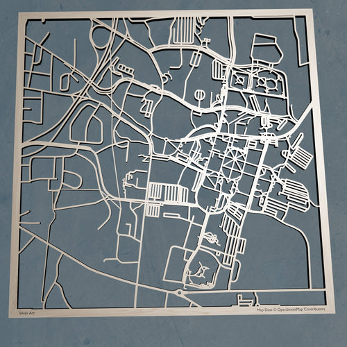 Mississippi State University 3D Wooden Laser Cut Campus Map | Unique Gift
