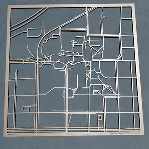 Missouri S&T 3D Wooden Laser Cut Campus Map | Unique Gift